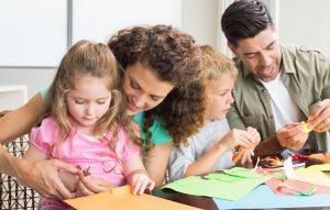 Parents bond with kids